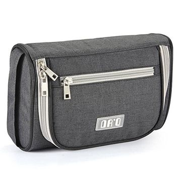 DRQ Toiletry Bag-Mens Travel Toiletry Organizer Bag Chapter Shaving Dopp Kit with Hanging Hook For Vacation