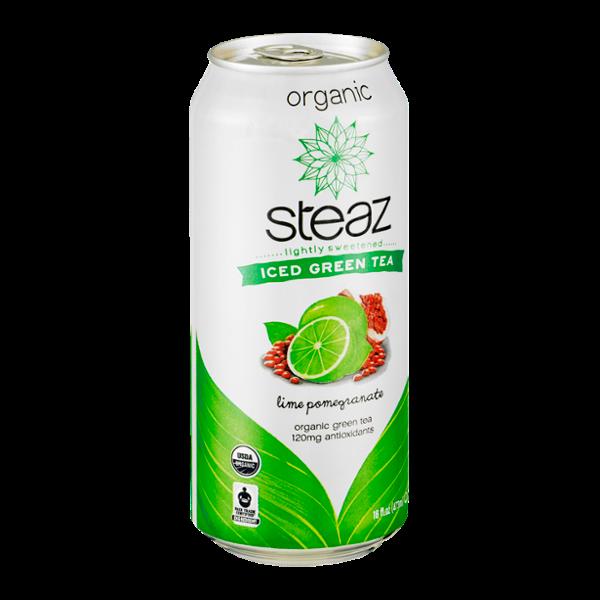 Steaz Iced Green Tea Organic Lime Pomegranate