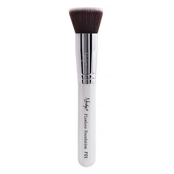 Nanshy F01 Flawless Foundation Flat Top Brush Pearlescent White