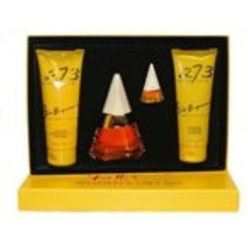 273 Gift Set By Fred Hayman (2.5 Oz Edp Spray + 6.7 Oz Body Lotion + 6.7 Oz Shower Gel + Mirror) For Women
