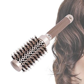 Pevor Ceramic Round Barrel Hair Brush For Hair Styling, Curling, Straightening Anti-Static Nylon + Aluminum Length 10.1 In