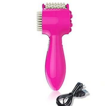 Pevor Pink Electric Hand-Held Tooth Comb Style Massager USES The Massage On The Back Of The Neck Of The Scalp To Relieve Fatigue And Relieve Stress And Relax The Brain