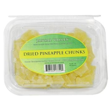 Jansal Valley Dried Pineapple Chunks, 1 Pound