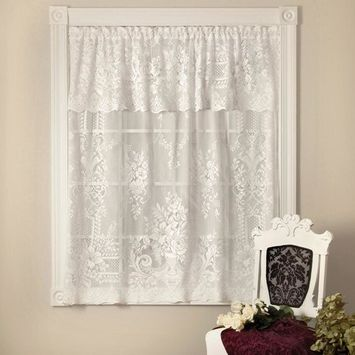 Heritage Lace Kensington 60 in. L Polyester Valance in White