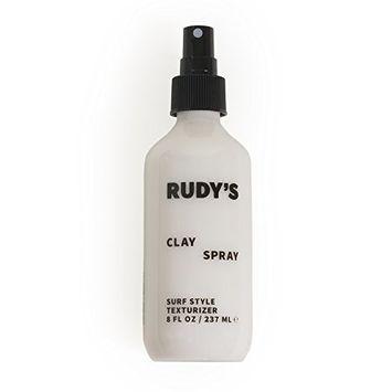 Rudy's Clay Spray, Sea Salt Texturizing Spray for All Hair Types, 8oz
