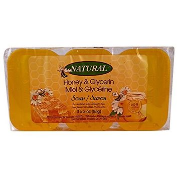 Honey Glycerine Natural Soap Bar 3 x 85g (3 x 3oz)