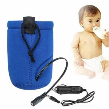 Portable DC Car Baby Bottle Warmer Heater Cover Food Milk Travel Cup Covers With automatic overheating protection