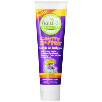 The Natural Dentist Cavaity Zapper Fluoride Toothpaste, Groovy Grape,5 Ounce