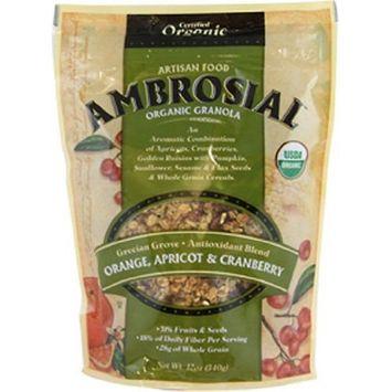 Artisan Ambrosial Granola Organic Grecian Grove Antioxidant Blend, 12-Ounce Pouch (Pack of 6)
