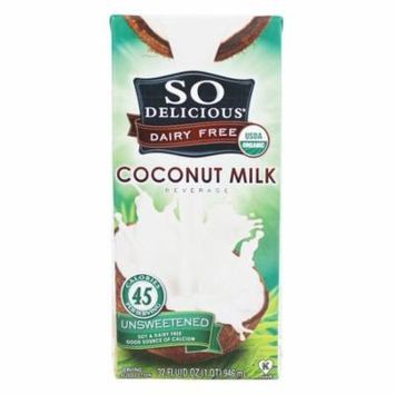So Delicious - Dairy Free Coconut Milk Beverage Unsweetened - 32 oz (pack of 4)