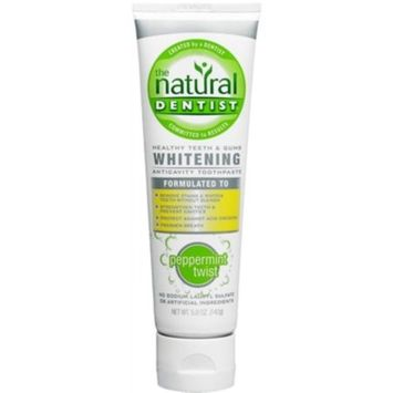 The Natural Dentist Healthy Teeth & Gums Whitening Plus Toothpaste, Peppermint Twist, 5-Ounces (Pack of 3)