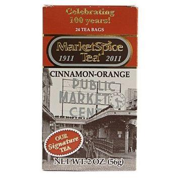 MarketSpice Teabags, box of 24 (Market Spice Tea) Cinnamon-Orange (Net WT 56G)