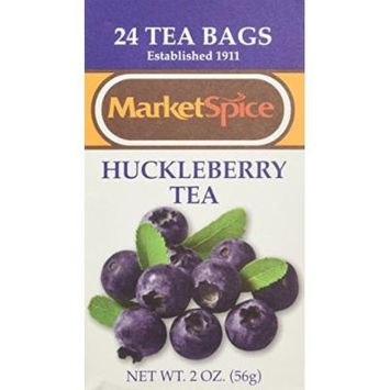 Marketspice Huckleberry Tea Bags, Box of 24 bags (2 oz)