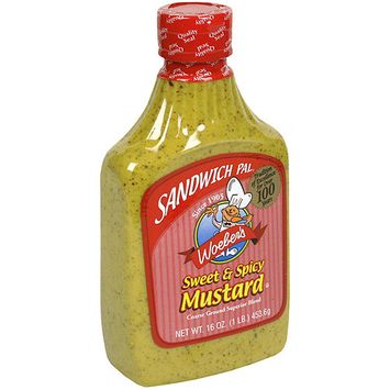 Woeber's Sandwich Pal Sweet & Spicy Mustard, 16 oz (Pack of 6)