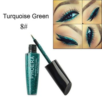 Jujunx 10 Color Makeup Metallic Shiny Eyes Eyeshadow Waterproof Glitter Liquid Eyeliner Cosmetic (H)