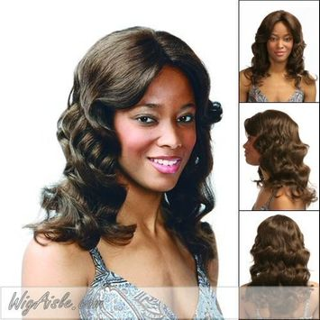 Motown Tress (HM-Tyra) - Human Hair Mono Front Full Wig in 4