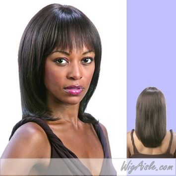 H. ELSA (Motown Tress) - Human Hair Full Wig in DARKEST BROWN