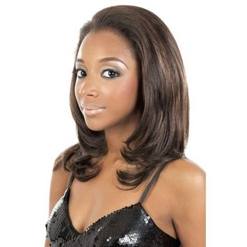 MOTOWN TRESS Lace Front Wig - LFE-BERRY - Color 1 Jet Black