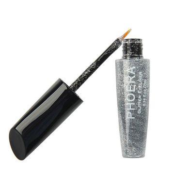 Jujunx 10 Color Makeup Metallic Shiny Eyes Eyeshadow Waterproof Glitter Liquid Eyeliner Cosmetic (A)