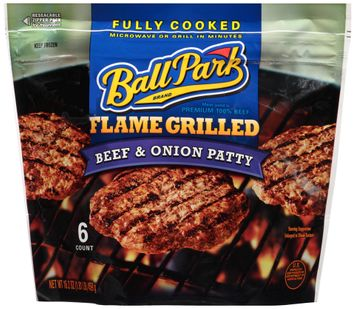 Ball Park® Brand Flame Grilled Beef & Onion Patty 6 ct Bag
