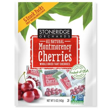 Stoneridge Orchards, Montmorency Cherries, Whole Dried Tart Cherries, 5 Packs, 1 oz (28 g) Each [Flavor : Original]