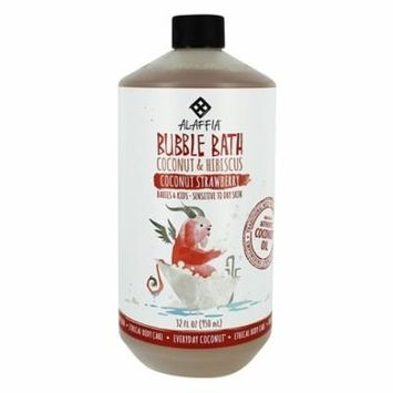 Bubble Bath with Coconut & Hibiscus for Babies & Kids Coconut Strawberry Scent - 32 fl. oz. by Alaffia (pack of 1)