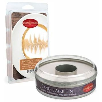 Spiced Vanilla Chai Candle Aire 5 oz Scented Wax Refill with Empty Reusable Tin by Candle Warmers