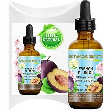 PLUM OIL French. 100% Pure / Natural / Virgin / Unrefined / Undiluted Cold Pressed Carrier Oil. For Face, Hair and Body.