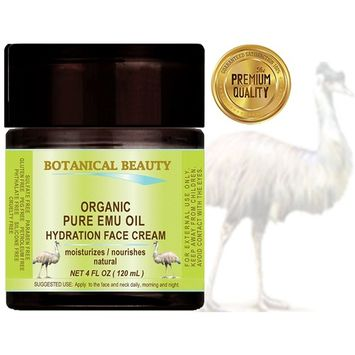 ORGANIC PURE EMU OIL HYDRATION FACE CREAM For Normal - Dry - Sensitive Skin. Moisturized and nourished .