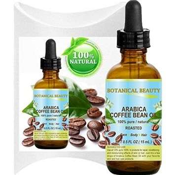 ARABICA COFFEE BEAN OIL Brazilian. 100% Pure / Roasted / Premium Quality with incredible Coffee Aroma. For FACE, BODY, HANDS, FEET, NAILS & HAIR and LIP CARE.