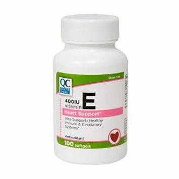 Quality Choice Vitamin E 400 IU DL-ALPHA Heart Support 100 Tablets Each