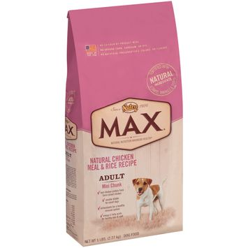 Nutro® Max® Adult Mini Chunk Natural Chicken Meal & Rice Recipe Dog Food