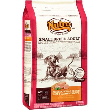 Nutro® Small Breed Adult Chicken, Whole Brown Rice & Oatmeal Recipe Dog Food