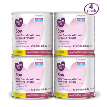 Parent's Choice Soy Infant Formula with Iron, 4 Pack, 22 oz ea