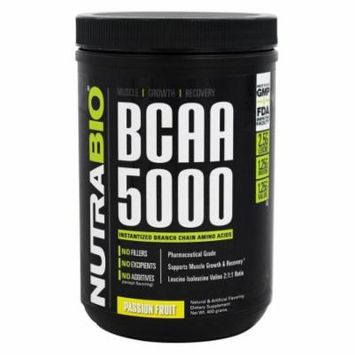 NutraBio - BCAA 5000 Passion Fruit - 400 Grams