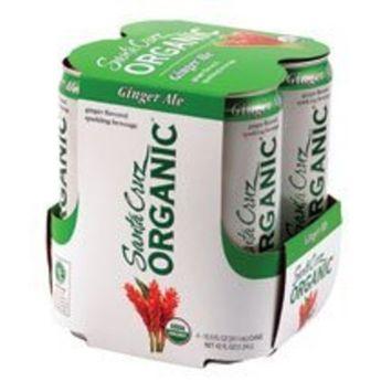Santa Cruz Organics Santa Cruz Organic Ginger Ale Sparkling Beverage (6x4 Pack)