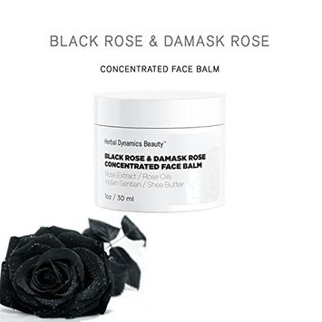 HD Beauty Black Rose + Damask Rose Concentrated Face Balm with Rose Extracts, Rose Oils, Indian Gentian and Shea Butter for Extremely Dehydrated Skin, 1 oz.