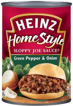 Heinz® Home Style Sloppy Joe Sauce Green Pepper & Onion