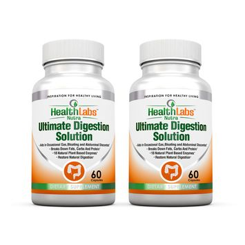 All Natural Digestive Enzymes for Irritable Bowel Syndrome Now with Resveratrol, Aloe and Senna (Pack of 2)