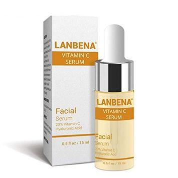 Vitamin C Serum Facial Serum 20% Vitamin C Hyaluronic Acid Remove Freckle Fade Dark Spot Anti-aging Whiten Moisturize Facial Serum