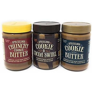 Trader Joe's Speculoos Cookie Butter Variety Bundle (Case of 3)