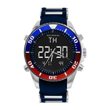 Rocawear - Rocawear Mens Multi-Color Black Anadigi Watch