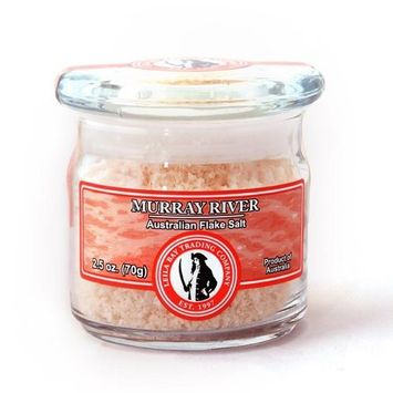 Leila Bay Trading Company Murray River, Australian Flake Salt, 2.5-Ounce Jar