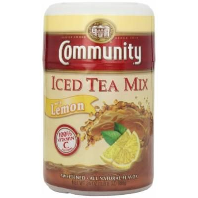 Community Coffee Lemon and Sugar Tea Mix, 24 oz., 6 Count