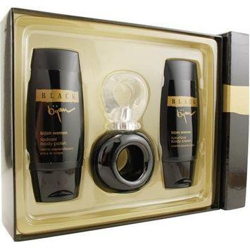 Bijan Black By Bijan For Women. Set-edt Spray 2.5-Ounces & Body Cream 3.3-Ounces & Body Polish 3.3-Ounces