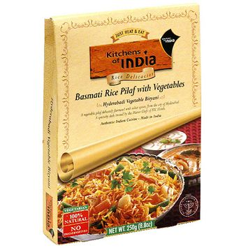 Kitchens Of India Basmati Rice Pilaf With Vegetables, 8.8 oz (Pack of 6)