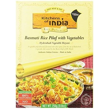 Kitchens Of India Biryanis Hyderabadi Biryani, Basmati Rice Pilaf with Vegetables, 8.8-Ounce Boxes (Pack of 6 )