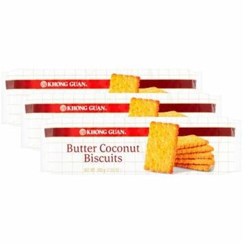 (3 Pack) Khong Guan Butter Coconut Biscuits, 7.05 oz