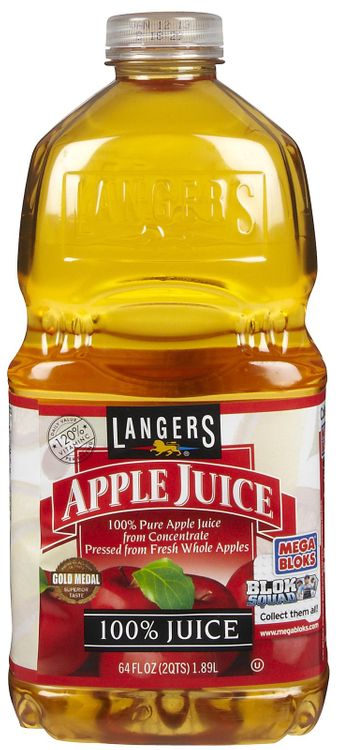 Langers Apple Juice, 64 oz, 3 Pack - 3 pk.