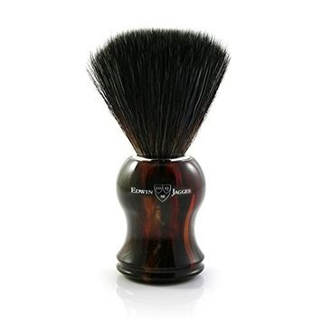 Edwin Jagger black synthetic fibre brush, Tortoise shell handle